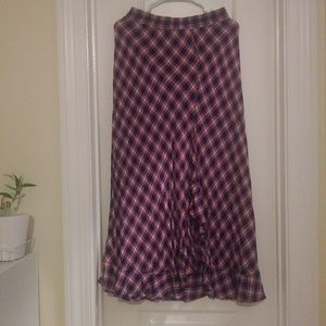 Max Studio check maxi skirt S
